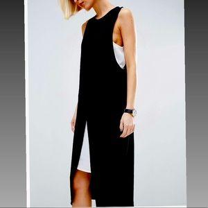ASOS color block wrap pencil midi dress